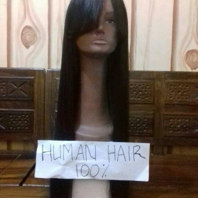 Wig rambut asli