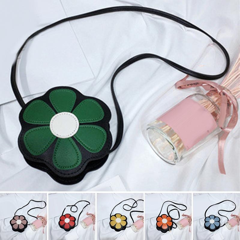 Tas Handbag / Selempang / Bahu Tote Korea Bahan Kulit PU Motif Bunga untuk Anak Perempuan