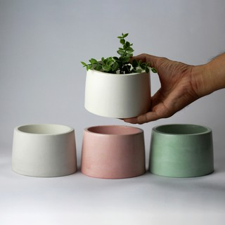 seka - concrete pot aesthetic untuk dekorasi, vas dried