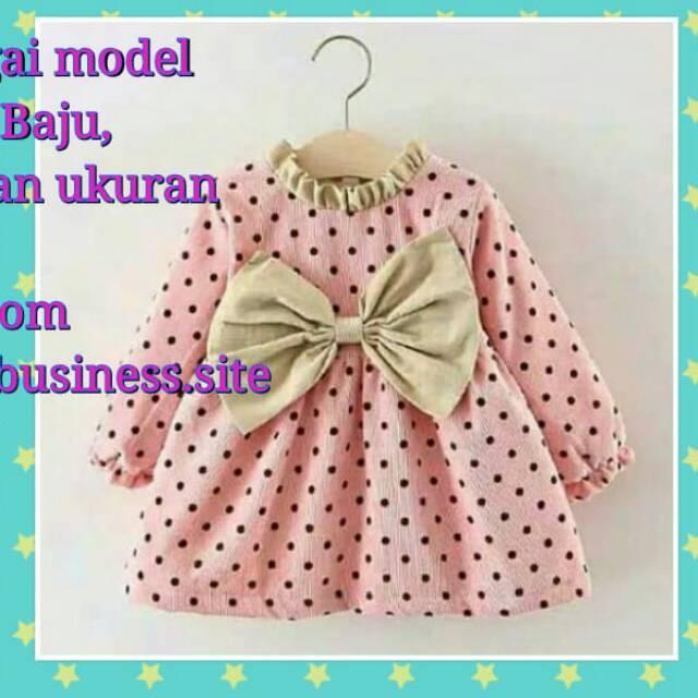 Pola Produksi Dress Anak 007 Pola Baju Dress Anak Model Babydoll Tangan Panjang Leher Kerut Shopee Indonesia