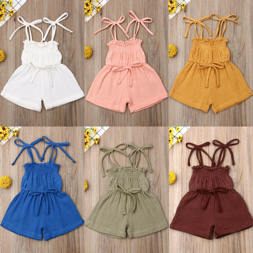 Toddler Kids Baby Girl Clothes Outfits Romper Bodysuit Jumpsuit Outfits Dress