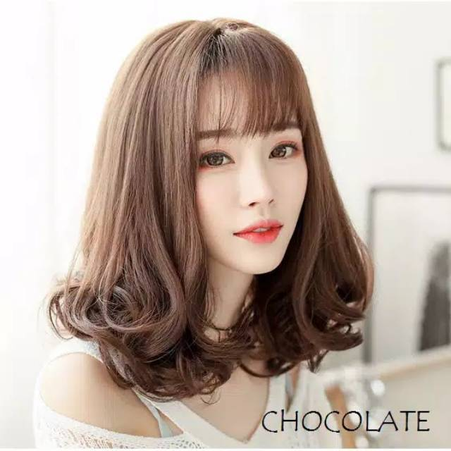 Wig Curly Pendek Poni Depan Wig Wave Shopee Indonesia