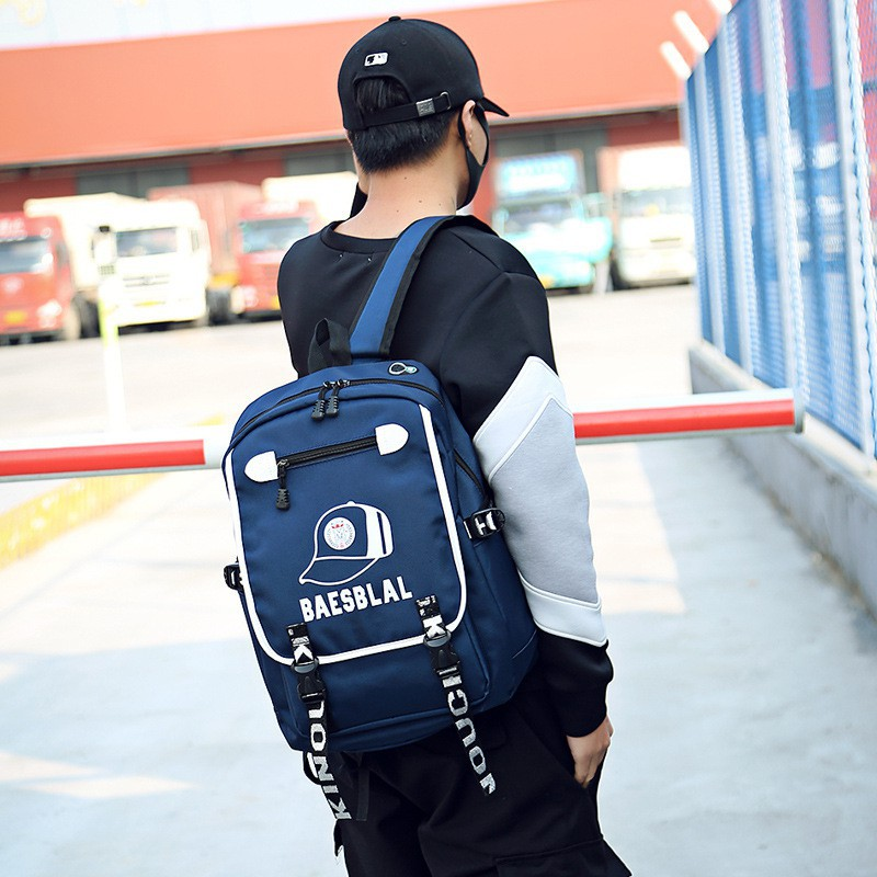 [Bayar Di Tempat]Fashion Pria: Tas Ransel Import Warna Polos untuk Laptop, Bahan Kain Oxford | Shopee Indonesia
