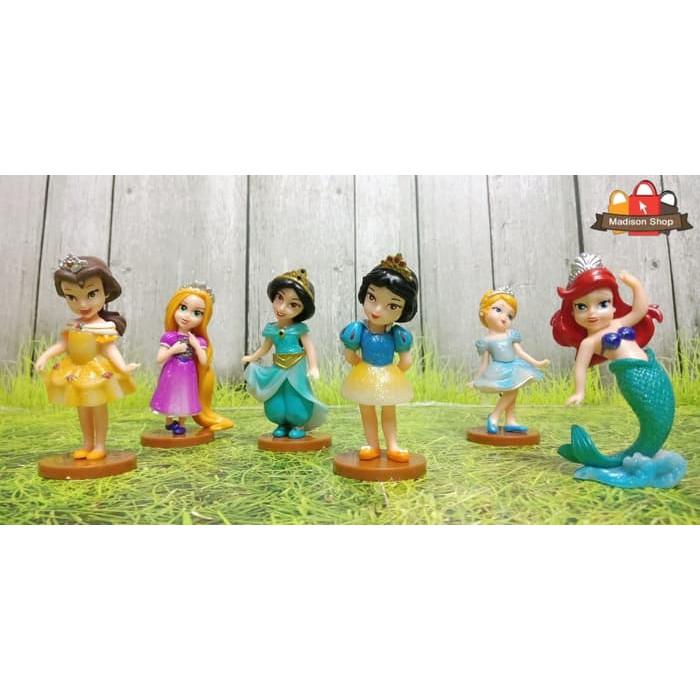 Dka608 Cake Topper Figurin Disney Princess Kue Ultah Hiasan Kue Princess