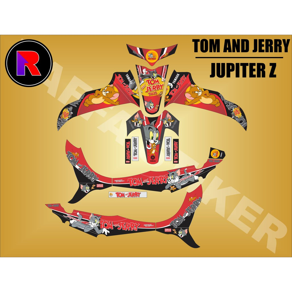 Decal sticker fullbody yamaha jupiter z 2008 tech3 kuning hitam shopee indonesia
