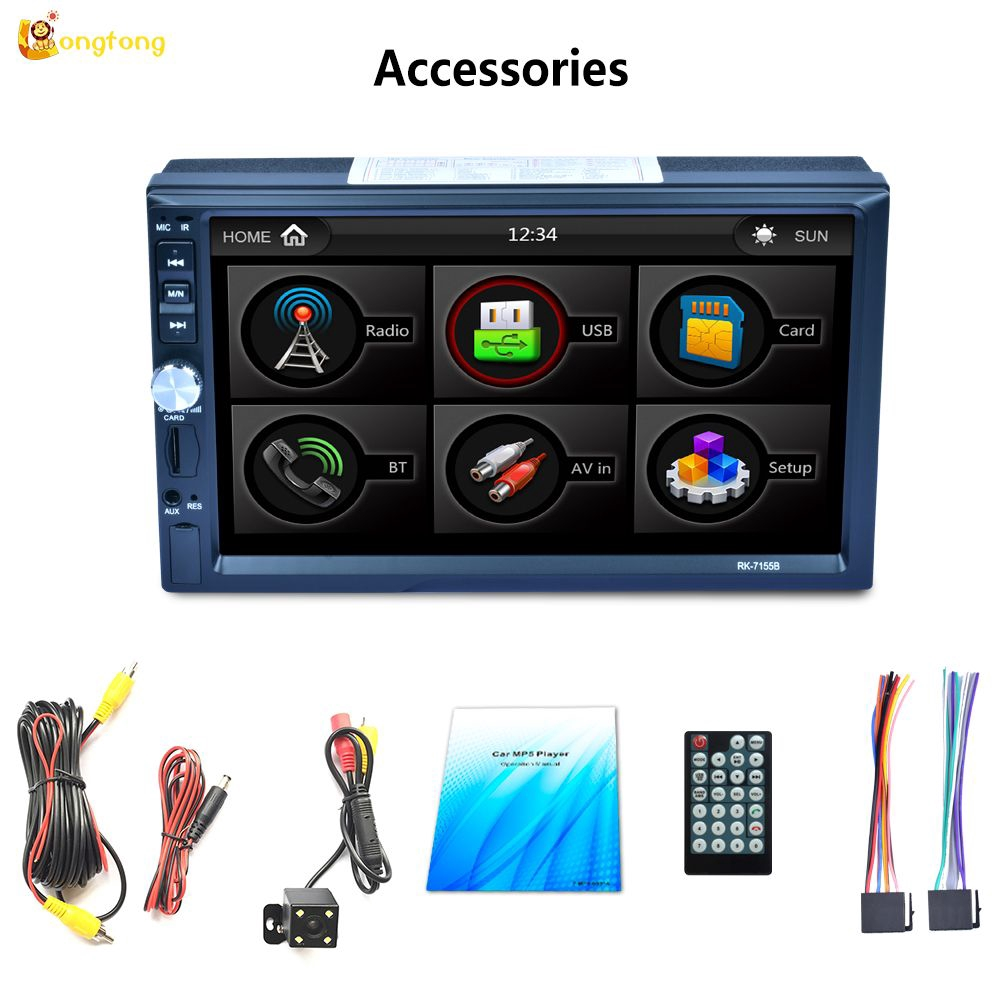 ? Long ? Headunit 2DIN 7Inch HD Touch Screen + Radio FM + MP5 Player +  Remote Control untuk Mobil