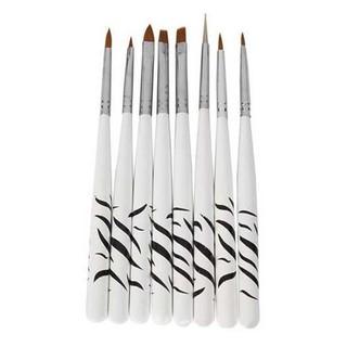 Brush Kutek Kuku Zebra Kuas Aksesoris Nail Art 8PCS Material Nylon ORIGINAL thumbnail