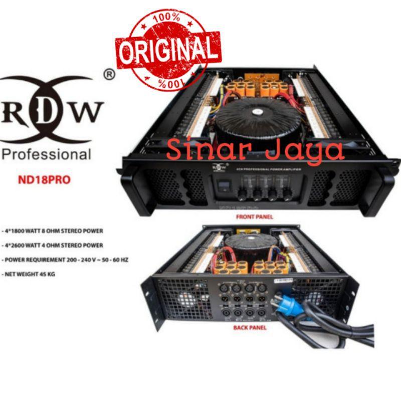RDW ND18PRO ND 18PRO POWER AMPLIFIER ORIGINAL 4 CHANNEL 1800WATT