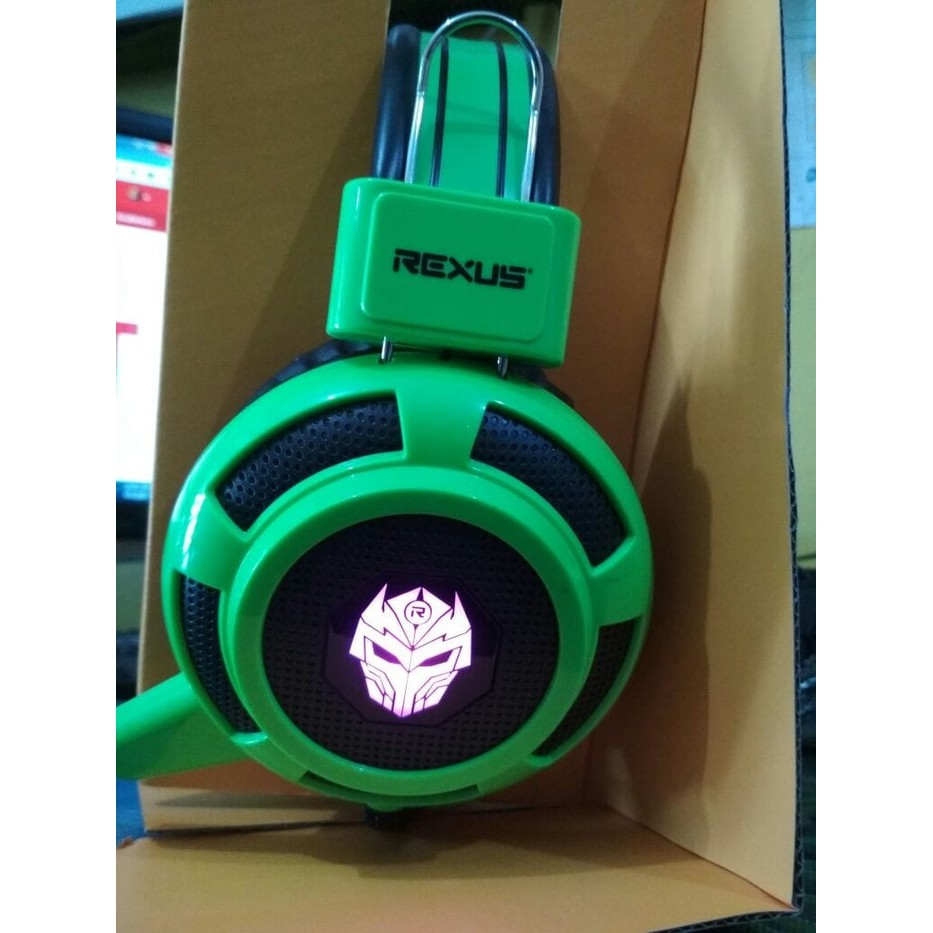 Rexus F15 Headphone Gaming Multimedia With Mic Biru Beli Harga Murah Headset Game Gamers Shopee Indonesia