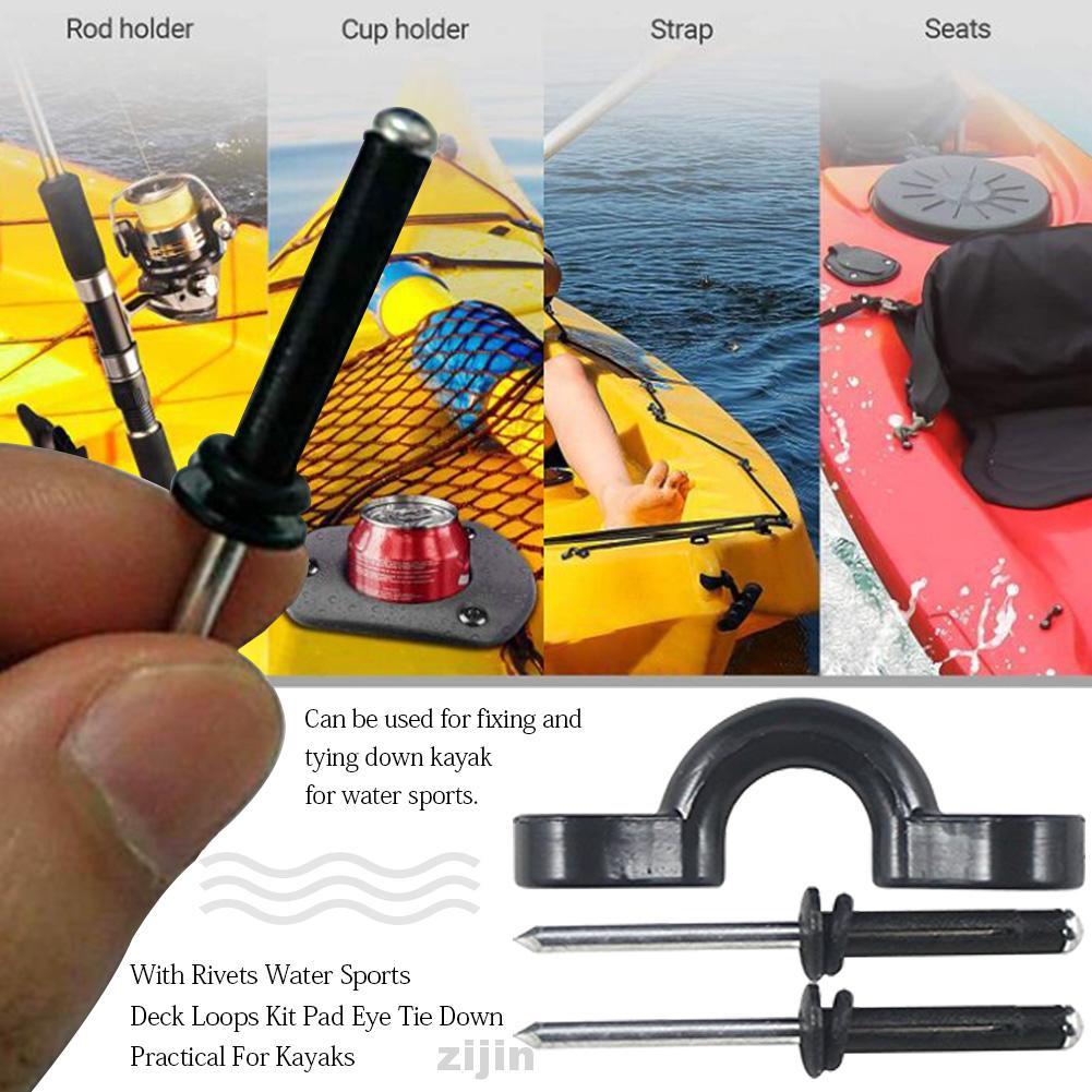 For Kayaks C Buckle Set Bungee Easy Install Tie Down Nylon Deck Loop Pad Eye
