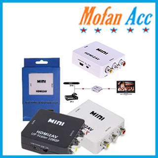 Minibox HDMI To AV RCA / Mini HDMI 2AV Converter Box #DB027