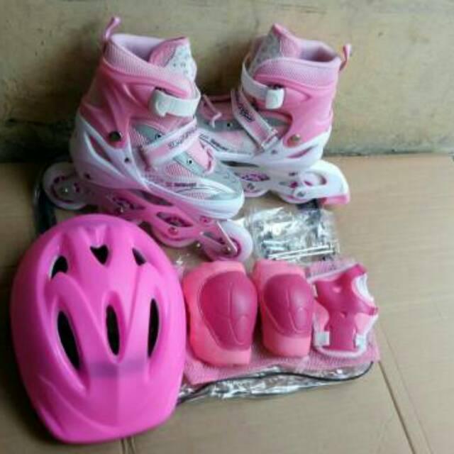 Promo) Mantap Set Lengkap Sepatu Roda Helm Dekker Model Bajaj (Murah ... d9e70e3ba8