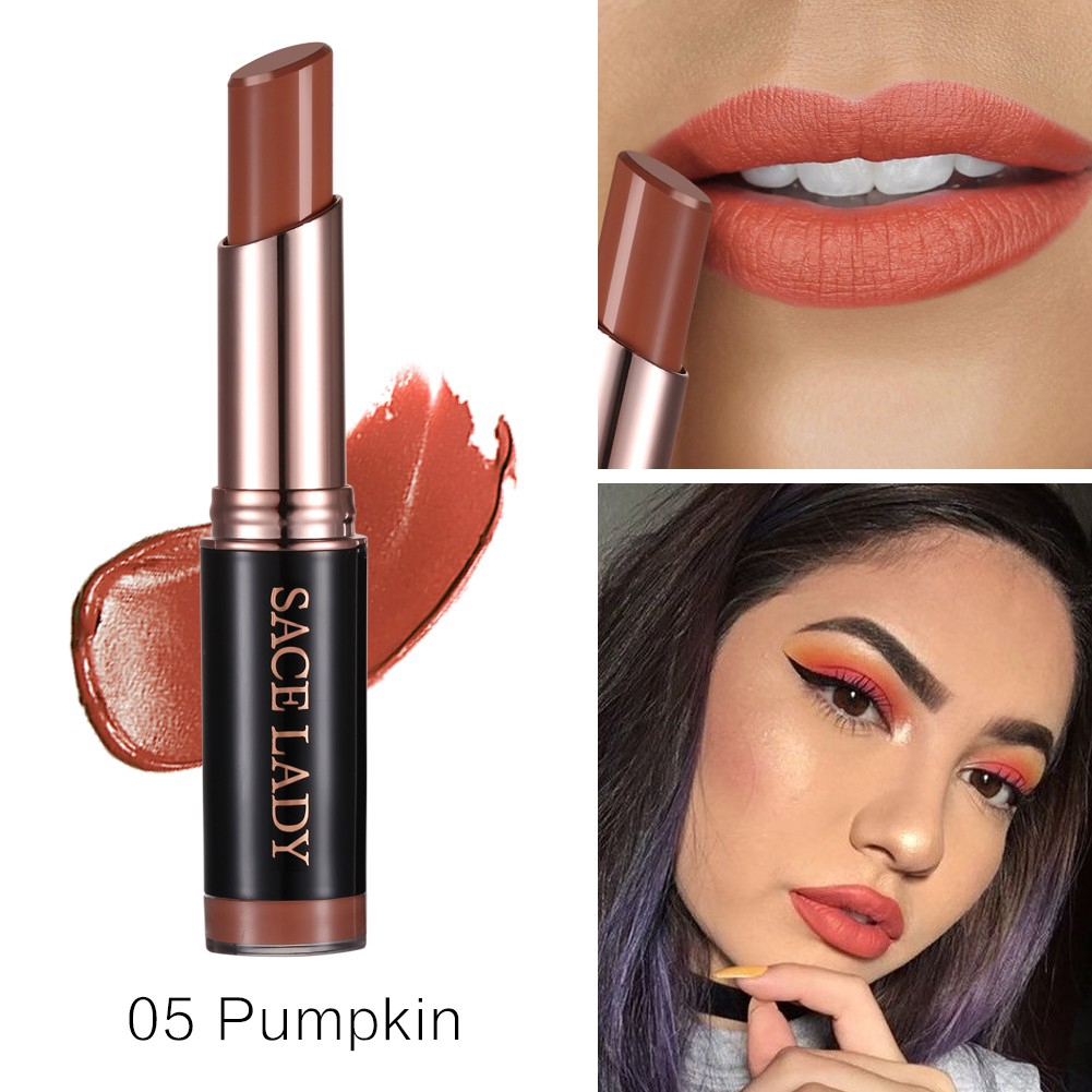 Sace Lady Matte Lipstick Pink Comfortable Wear Lips Makeup Shopee 3ce Mood Recipe Lip Color Mini Kit Box Coklat Lipstik Gift Set Kosmetik Bibir Indonesia