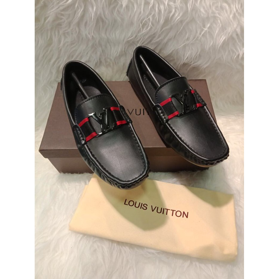 Sepatu Hermes Loafers Black With Mozaic Mirror Quality R9804 Redknot Shoes Hemera Shopee Indonesia