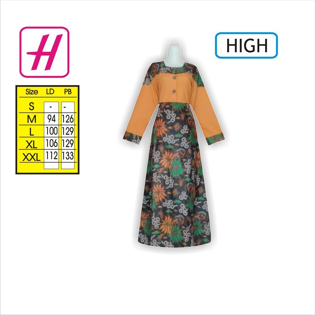 Baju Jubah Modern, Model Gamis Batik Terbaru, Desain Batik, HIGH