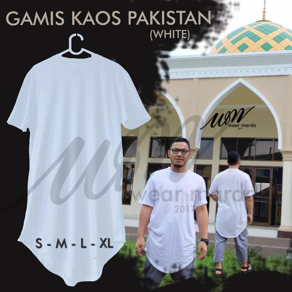 Keren Baju Koko Kurta Bahan Kaos Santai Hari Ini Saja Shopee Indonesia Busana Muslim Pria Lengan Panjang Kafa Katun Minyak