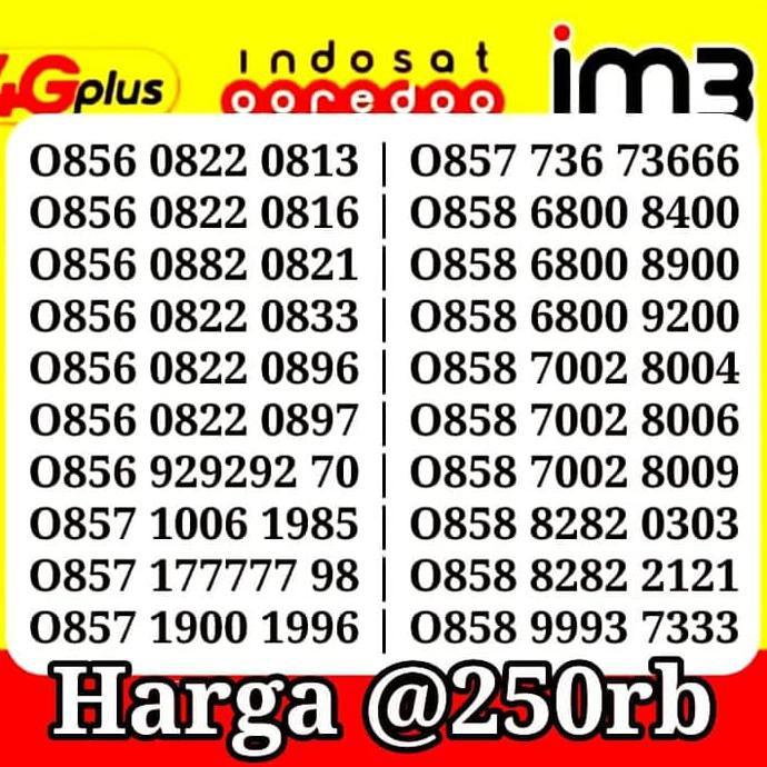 Triple 777 cantik 777 nomor cantik 085777 IM3 TRIPLE 777 MURAH   Shopee Indonesia