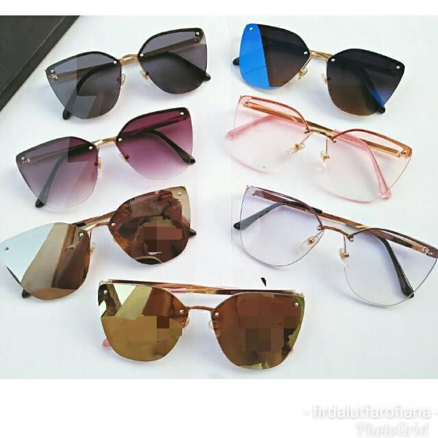 Kacamata Sunglass Wanita DR-8603A UV Protect + Bonus Cairan Pembersih  637993beab