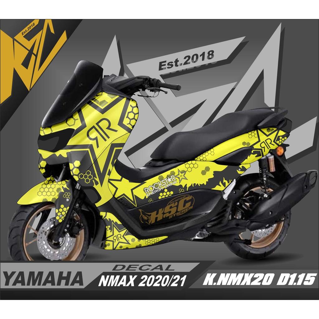 Decal Stiker Nmax Keren FullBody Motor Yamaha Nmax New 2020 Dekal Nmax 2021 Rockstar K.NMX20.D1.15