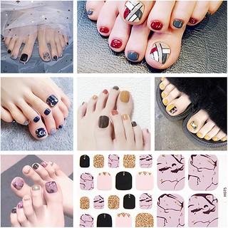22pcs set Cute Toe Nail Sticker Student Bride Lazy Waterproof Toe Nail Sticker thumbnail