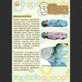 Instan | Bedong Bayi Perekat Velcro Praktis. suka: 53 .
