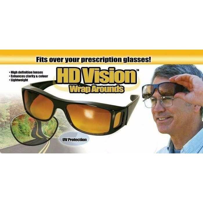 Baru Kaca Mata HD Vision 1Box isi 2 Anti Silau Kacamata Siang dan Malam Harga Terbaik