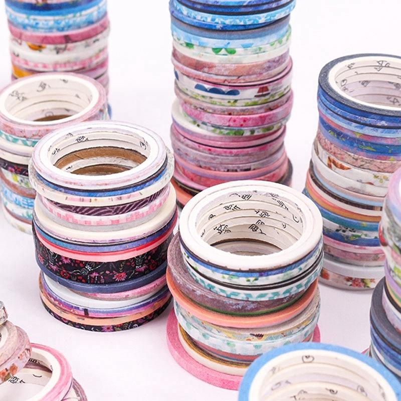 100 Roll Washi Tape Warna Gold untuk Scrapbook DIY
