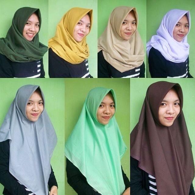 Cara Memakai Jilbab Segitiga Untuk Anak Sekolah Hijab Converse