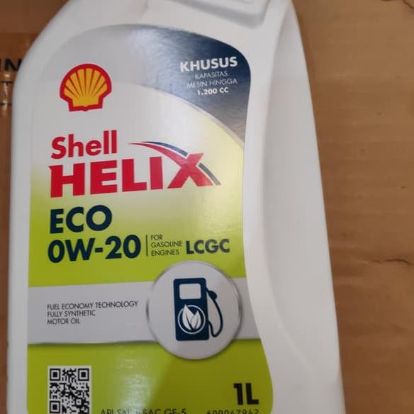 Z艾 Grosir Shell Helix Eco 0w 20 Oli Mesin Modern Mobil Lcgc Api Sn 0w20 1 Liter Shopee Indonesia