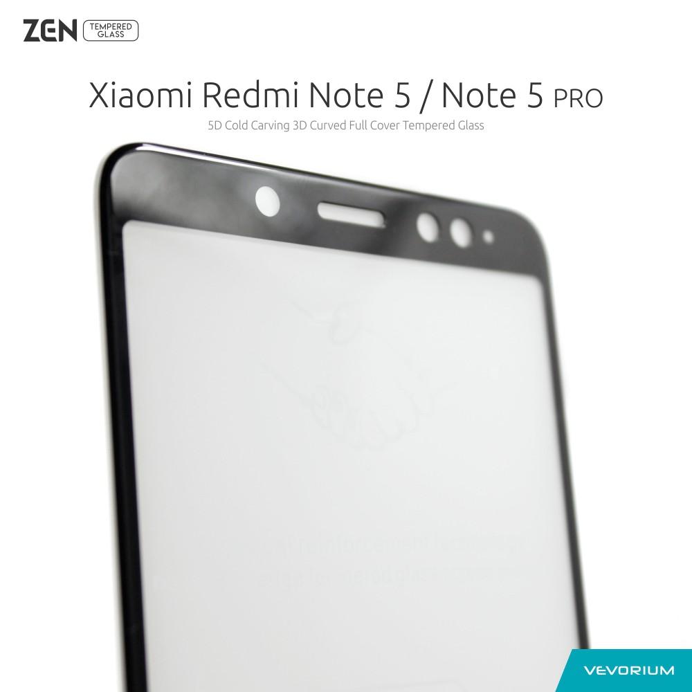 Vevorium Zen 25d Xiaomi Redmi Note 5 Note5 Pro Clear Tempered Glass Color Full Cover Shopee Indonesia