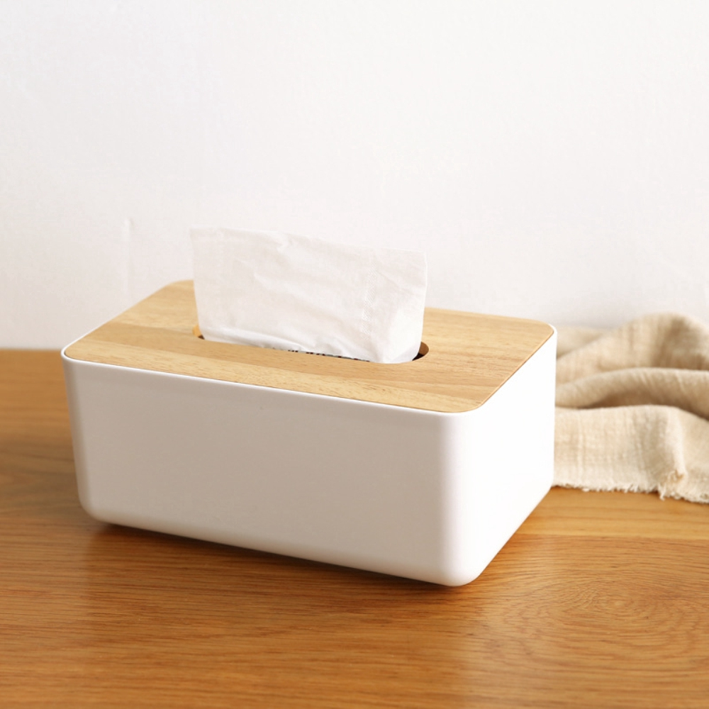 Tissue Box Home Bathroom Toilet Paper Napkin Holder Car Storage Bag with Zipper