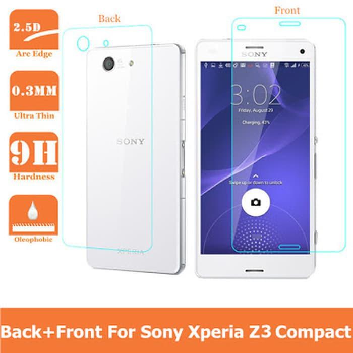 Tempered Glass Sony Z1 Mini/ Z1 Compact Depan Belakang   Shopee Indonesia
