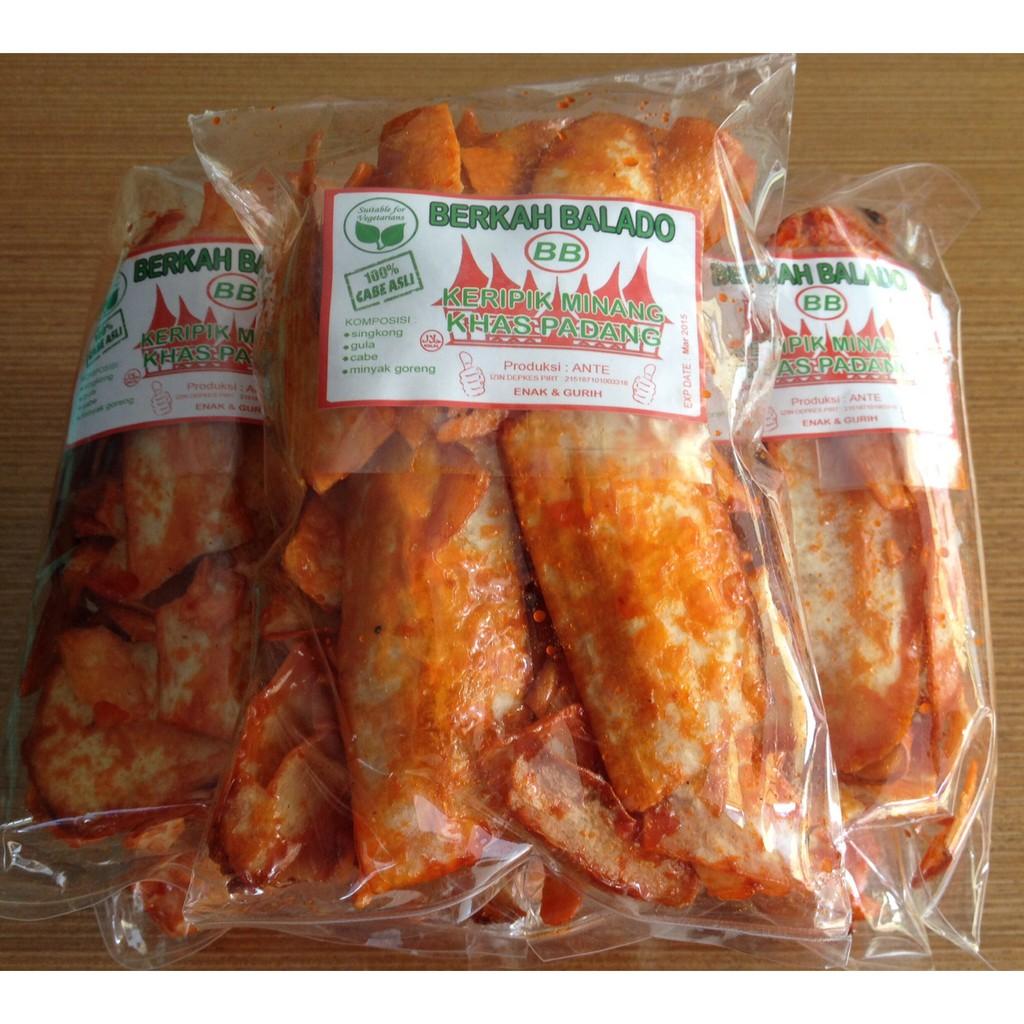 Harga Jual Halal Snack Keripik Singkong Balado Khas Minang Enak Odut Sanjay Asli Padang Vegan