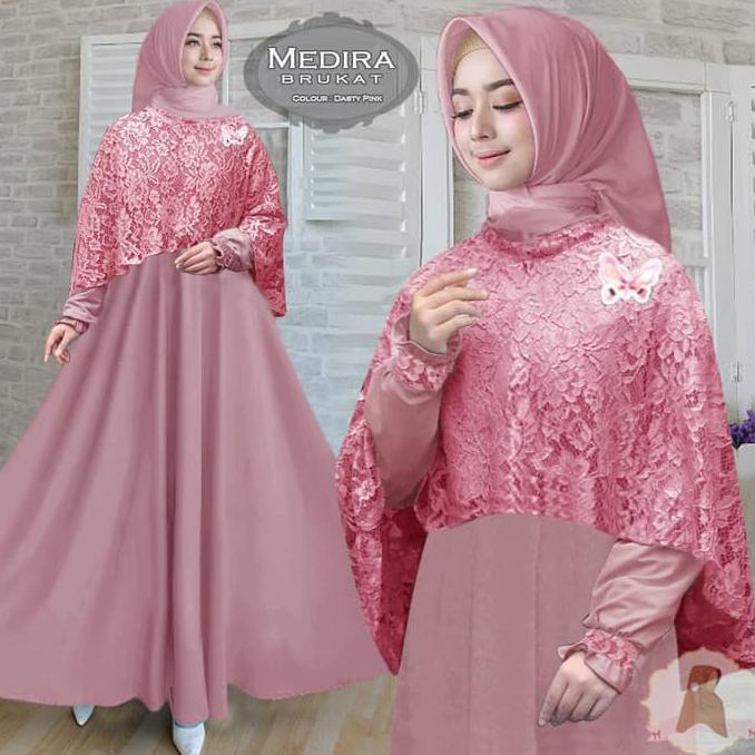 Promo Turun Harga Baju Busana Muslim Wanita Gamis Syari Pesta Medira Terbaru Buruan Stock Terbatas Shopee Indonesia