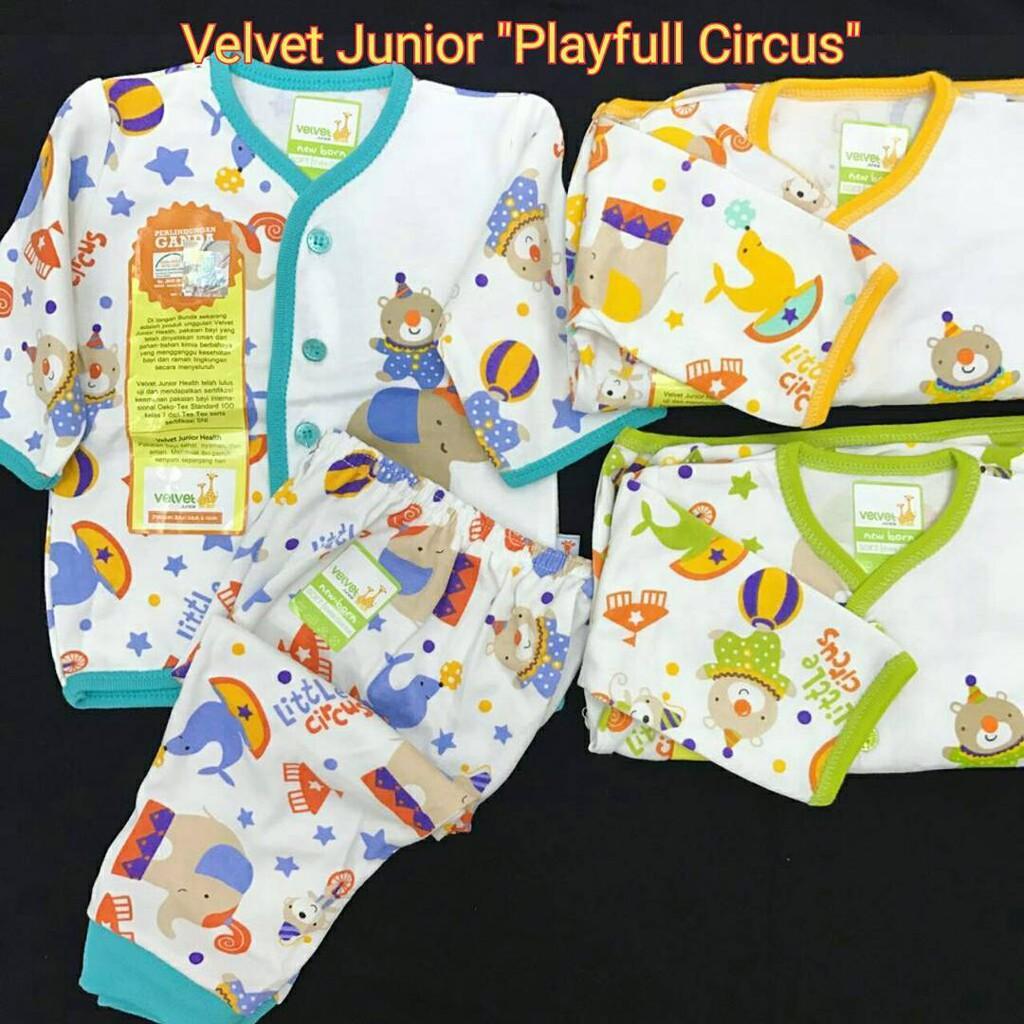 Velvet Junior Playfull Little Circus Setelan Baju Tidur Piyama Pendek Oblong Sml Animal Bayi Panjang Nb Xl Xxl Shopee Indonesia
