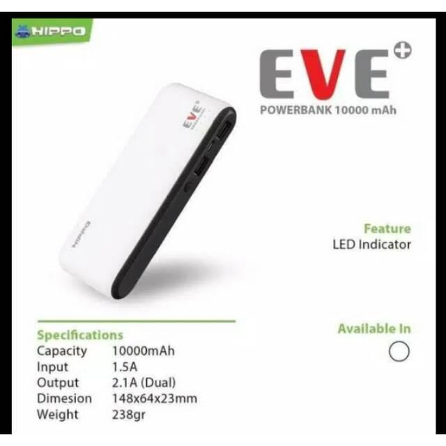 Powerbank PB Hippo Eve Plus Original 100%