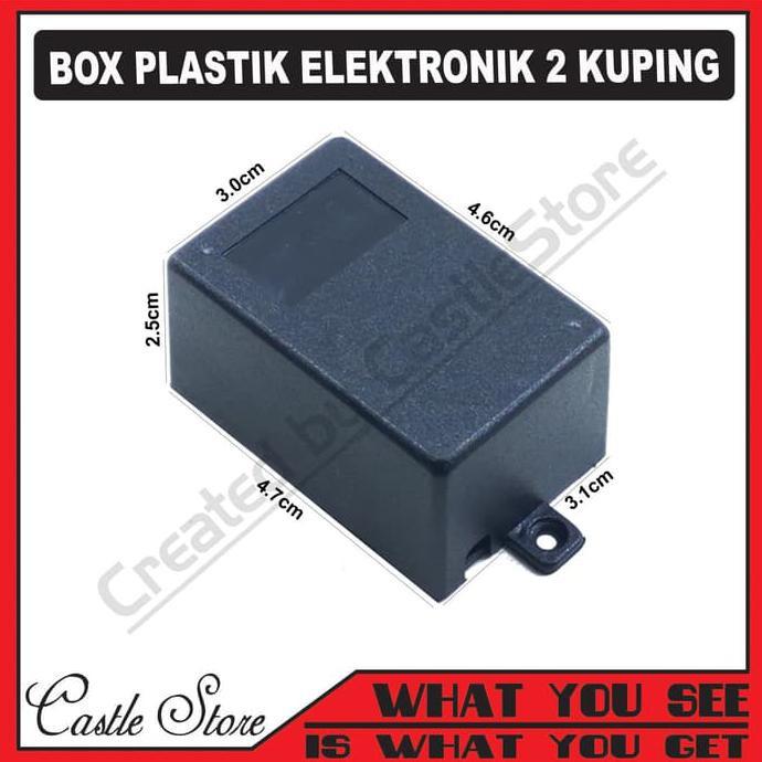 Box Plastik / Kotak Plastik Hitam 7,5 X 5 X 2,5 Cm