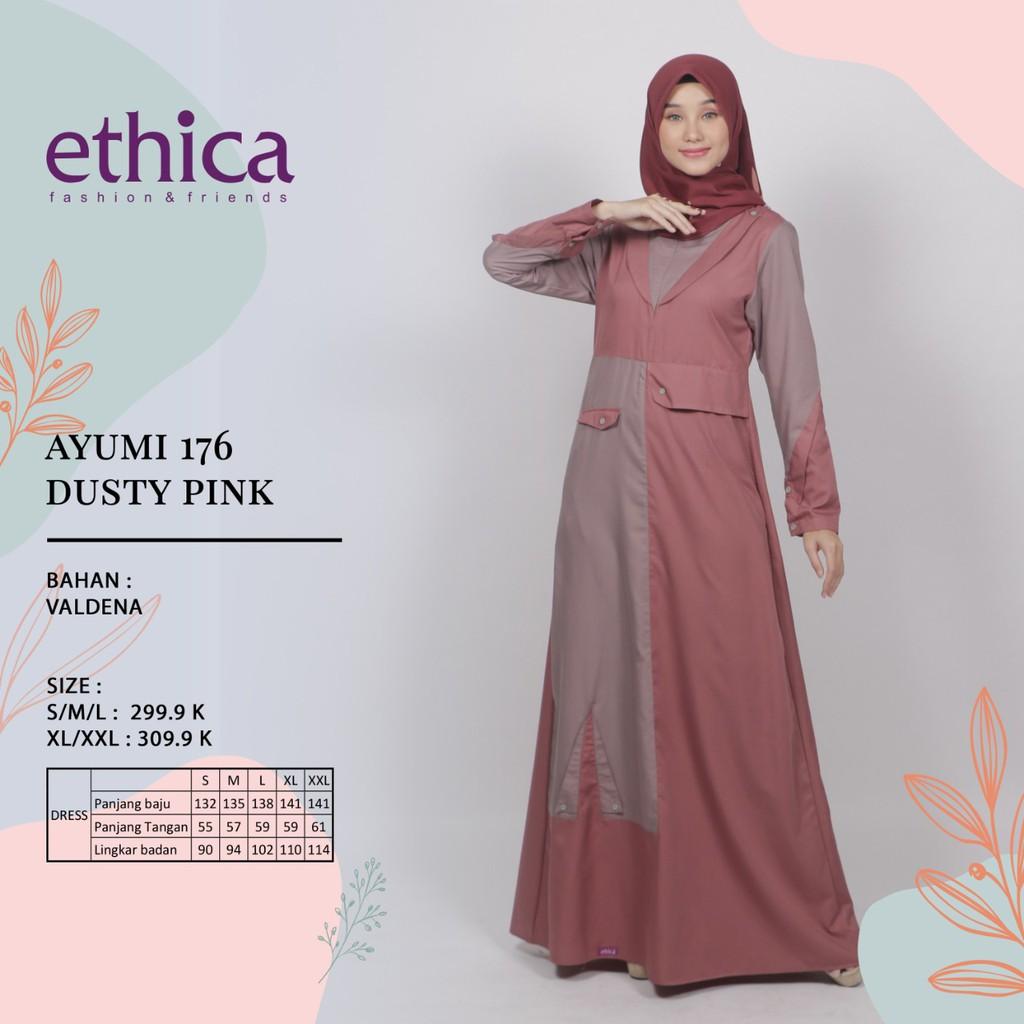 Hb Gamis Ethica Ayumi Terbaru 2020 Ayumi 176 Dusty Pink Gamis Ayumi Terlaris Siap Kirim Shopee Indonesia