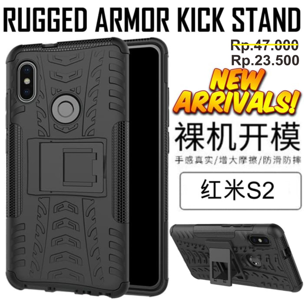Rugged Armor Kick Stand Case Xiaomi Redmi Note 5 / Note 5 Pro Softcase Back  
