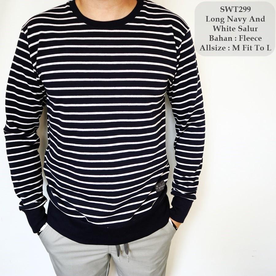 Sweater Cowok Azuma Shopee Indonesia Rajut Pria Navy