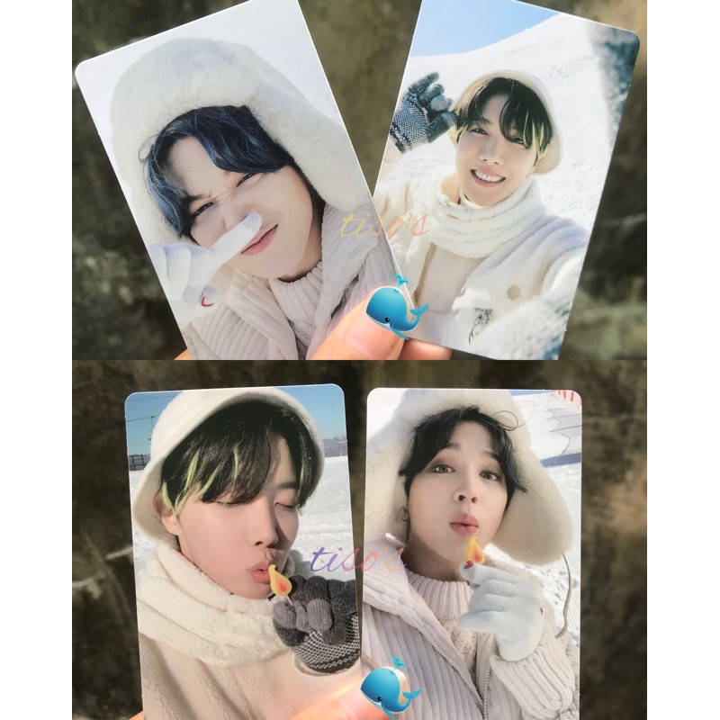Jimin Jhope Winter Package Photocard / pc bts
