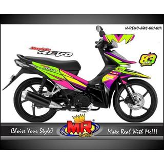 Stiker Striping Motor Stiker Absolute Revo Repsol Grade B Shopee Indonesia