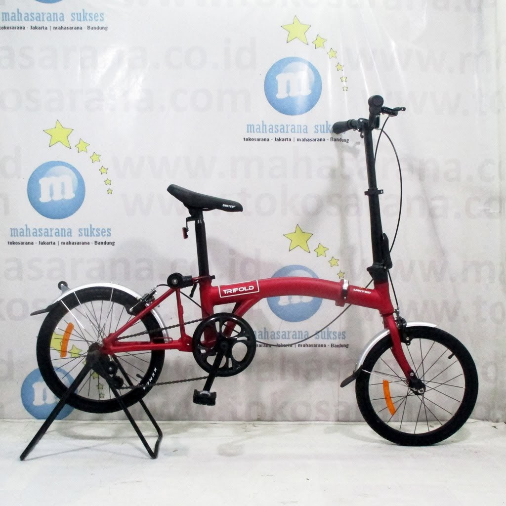 Sepeda Lipat United Trifold Single Speed Remaja Dewasa 16 Inci Bisa Dilipat 3 Steel 1sp Folding Bike Shopee Indonesia