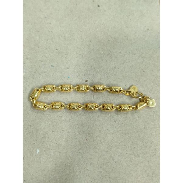 gelang kapsul ukir 5 gram emas muda