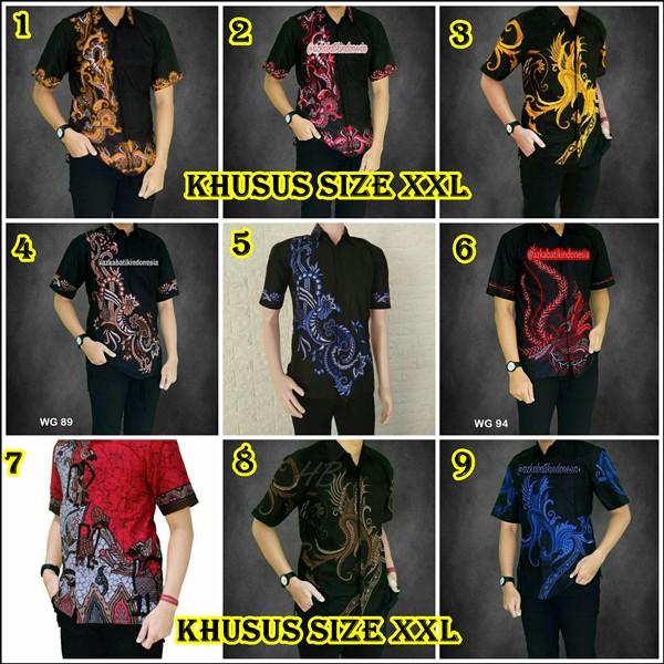 Model Baju Batik Ukuran Jumbo XXL Baju Batik Besar Kemeja Batik size jumbo  motif rang rang  d8db92d58b