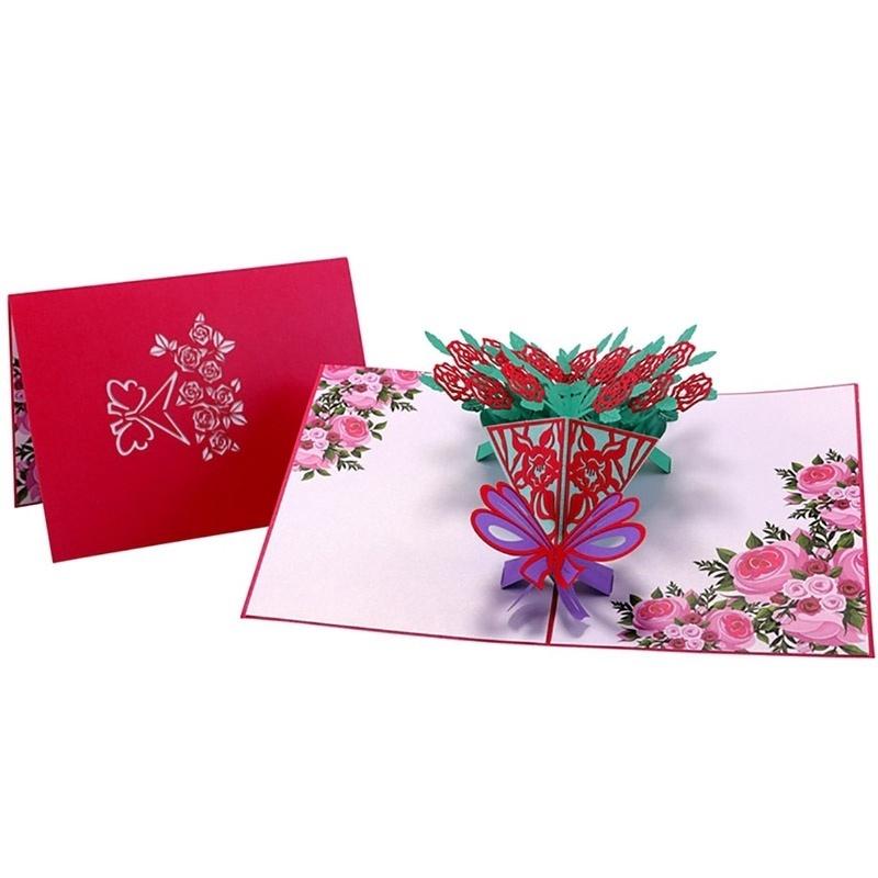 Kartu Ucapan Handmade Desain Bunga Mawar 3d Untuk Ulang ...