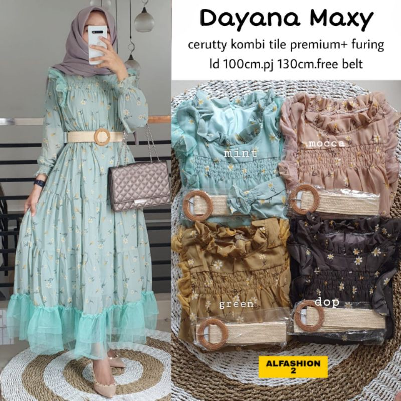 DAYANA MAXI DRESS ORIGINAL ALFASHION