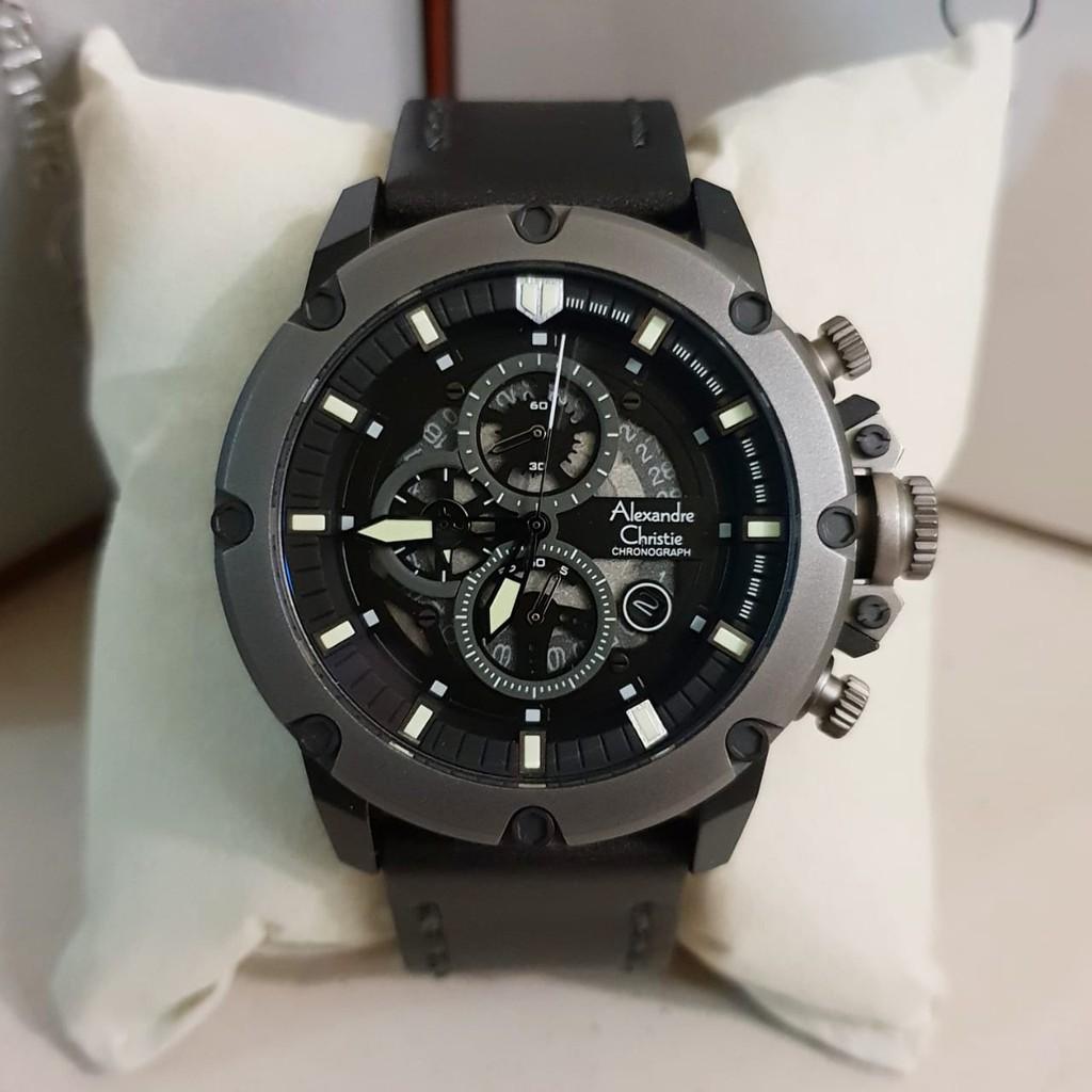 Jam Tangan Pria Cowok Alexandre Christie Ac 6416 Silver Black 6453 Original Blackoriginal Garansi Resmi 1 Tahun Shopee Indonesia