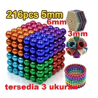 Magnetic Ball Warna Warni 216pcs Buckyballs Bola Magnet