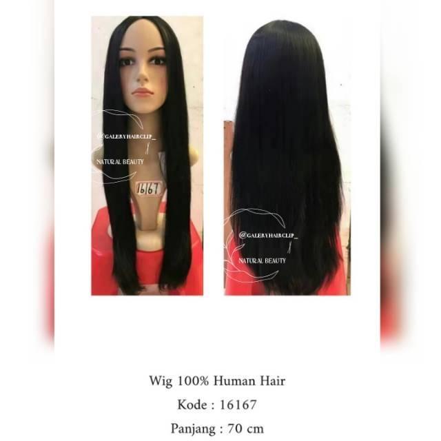 WIG HUMAN HAIR / WIG RAMBUT ASLI / WIG HUMANHAIR / WIG RAMBUT ASLI MANUSIA / galeryhairclip